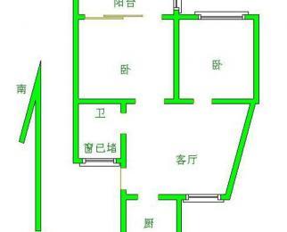 太湖花园 90万 双朝南大两房 首付32万