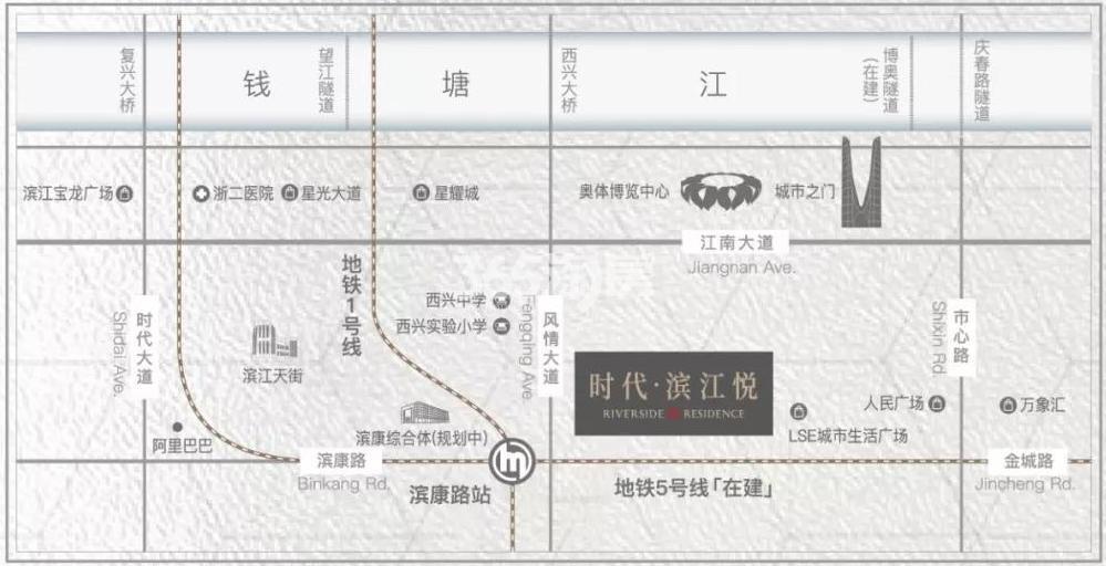 悦庭交通图
