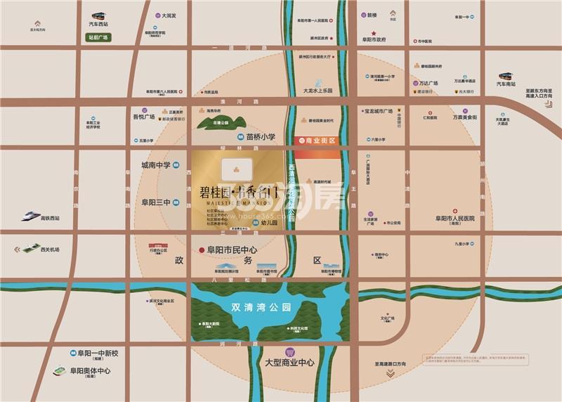 碧桂园书香名门交通图