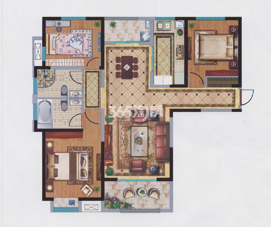 宝能城10#楼约140平户型