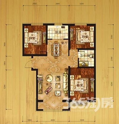 御园印象3室2厅1卫107平方产权房毛坯