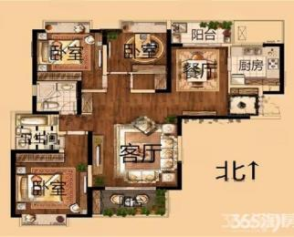 <font color=red>海峡城云珑湾</font>3室2厅2卫148.83平米整租精装