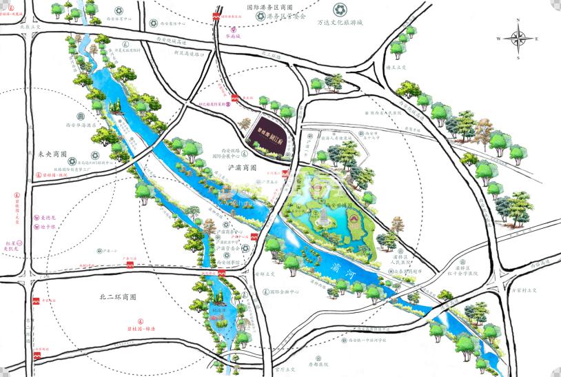 碧桂园阅江府交通图