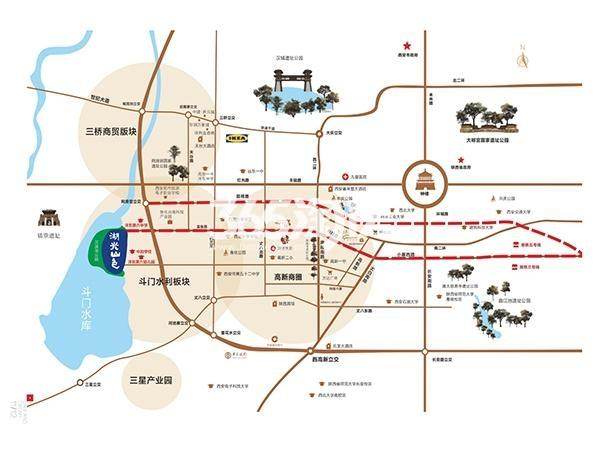湖光山色交通图