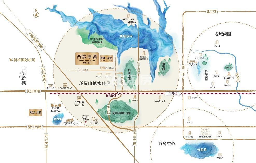 龙湖丽丰西宸原著交通图