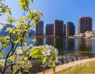 山水桂林,魅力麓湖,依山傍水,柳绿花红