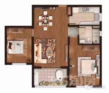 仁恒绿洲新岛2室1厅1卫94平米精装产权房2016年建