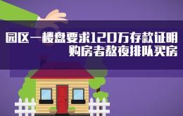 苏州一楼盘要求准备120万存款证明 购房者熬夜排队买房