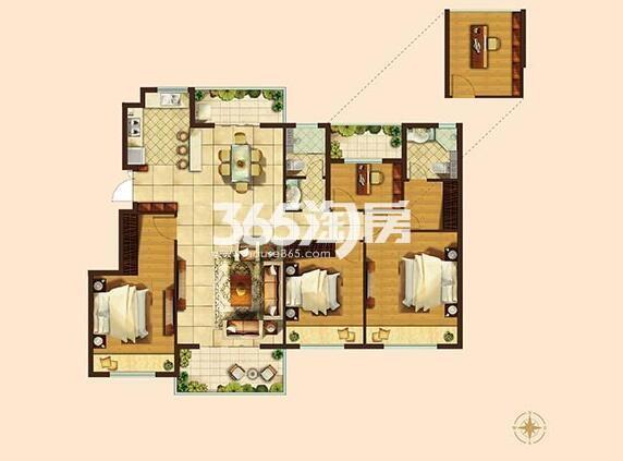 142平方米四房两厅二卫