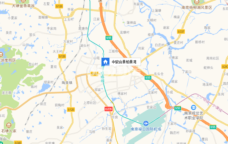 中骏合景柏景湾交通图