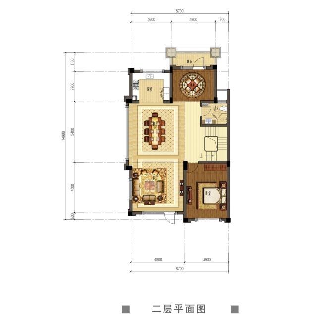 观澜天下52号楼二层户型图