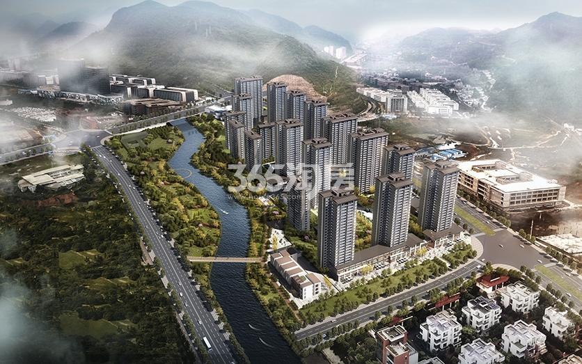 中俊·秀水湾鸟瞰图