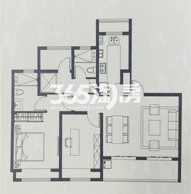 海胥澜庭三室两厅两卫105平